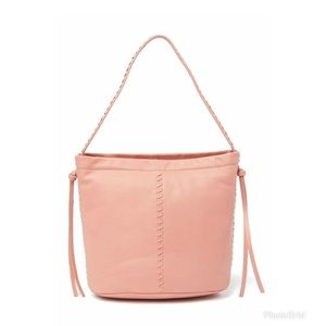 Kooba Limon Leather Hobo Pink Top Handle Bag